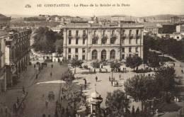 63749  -  Algérie      Constantine     La Place De La Brèche Et La Poste - Constantine