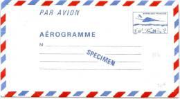 """LSAU5 - FRANCE AEROGRAMME """"SPECIMEN"""" DES COURS D'INSTRUCTION CONCORDE 3f10 - Specimen"""