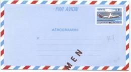 """LSAU5 - FRANCE AEROGRAMME """"SPECIMEN"""" DES COURS D'INSTRUCTION CONCORDE 4f50 SUR 4f20 - Specimen"""