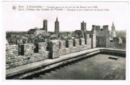 Gent, Gand, ´s Gravensteen, Panorama Gezien Op Het Plat Van Den Meesten Toren (pk8568) - Gent