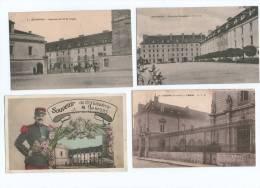 4 Cartes Postasle  D ' AUXONNE - Auxonne