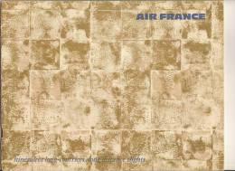 AIR FRANCE Cartes Itinéraires Long-courriers Edit ERIDE Ref : 226603/3/68 - Publicités