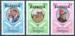 BARBUDA - 1981 - MNH/*** LUXE - ROYAL WEDDING DIANA CHARLES  - SG 572-574 Yv 567-569  Lot 3780 - Antigua & Barbuda (...-1981)