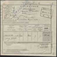 CHEMINS DE FER - Obl. Rect. MOUSTIER Sur Récépissé 1893 (342) - 1923-1941