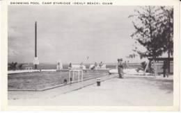 Guam, Dealy Beach Camp Ethridge Swimming Pool, Soldiers, C1940s/50s Vintage Postcard - Guam