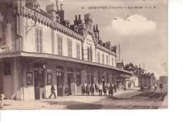 Auxonne : La Gare (Phototypie Artistique De L'est, C. Lardier, Besançon, CLB N°14) - Auxonne