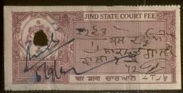 Jhind Court Fee_4 Annas_type_ - Jhind