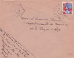 """Marianne à La Nef Obl """" SOUK EL KHEMIS TIZI-OUZOU """" Grande Kabylie Algérie - Lettres & Documents"""