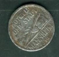 """Allemagne , Monnaie De Nécéssité """" Notgeld Der Stadt Mannheim """" 5 Pfennig  - Laura6602 - [ 3] 1918-1933 : Weimar Republic"""