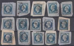 Frankreich Lot Minr.13 Briefst. Nr.-Stempel Ansehen !!!!!!!!! - 1853-1860 Napoleon III