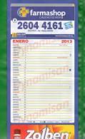 15  -URUGUAY-2013-Calendario  De Pared De Seis Hojas - Calendars