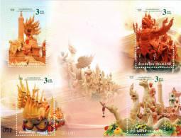 THAILAND - 2009 - Mi BL. 235 - THAI TRADITIONAL FESTIVAL - NAGAS OF THAILAND S/S - MNH ** - Thailand