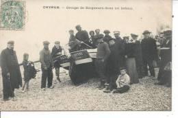 CAYEUX SUR MER - Groupe De Baigneurs Dans Un Bateau - Cayeux Sur Mer