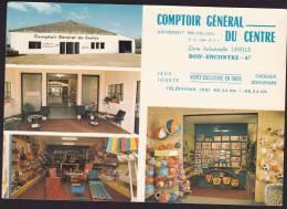 Carte Postale Representant Le COMPTOIR GENERAL DU CENTRE à BON ENCONTRE Proche AGEN (47) - France