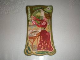 Chromo Art Déco Publicité Biscuits Lefèvre Utile, Duchesse Anne Dans Le Gout De Mucha - Lu