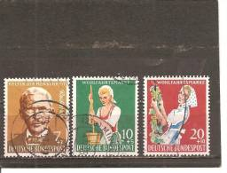 Alemania-Germany Nº Yvert 168-70 (usado) (o) - [7] República Federal