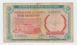Nigeria 5 Shillings 1968 AVF P 10a  10 A - Nigeria