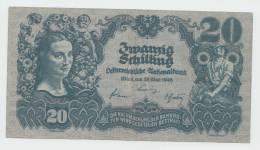 Austria 20 Schilling 1945 AXF Banknote P 116 - Austria