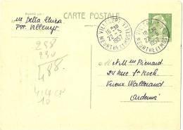 LSAU5 - FRANCE EP CP MÜLLER 12f VERT VOYAGEE - Postal Stamped Stationery