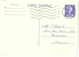 LSAU5 - FRANCE EP CP MÜLLER 20f BLEU VOYAGEE - Postal Stamped Stationery