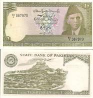 Pakistan P-39, 10 Rupee, Mohammed Ali Jinnah / Moenjo-d-aro (Mound Of The Dead) - Pakistan