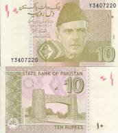 Pakistan P-45a, 10 Rupee,Mohammed Ali Jinnah /  Khyber Pass Peshawar - Pakistan