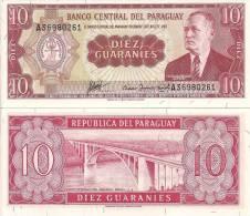 Paraguay P-196b, 10 Guaransi, General Eugenio A. Garay / International Bridge - Paraguay