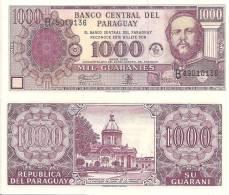 Paraguay P-221, 1000 Guarani,50th Anniv. Bank, National Shrine / Mariscal Lopez - Paraguay