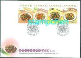 FDC(B) 2013 Delicacies– Home Cooked Dishes Stamps Cuisine Teapot Tea Gourmet Food Crab Rice Chicken Mushroom - Drinks