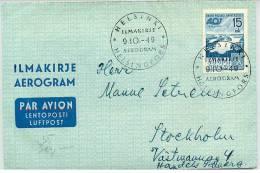 Finland Airmail 9-10-49 - Airmail