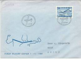 Finland Airmail 2-11-1960 First Flight Cover - Airmail