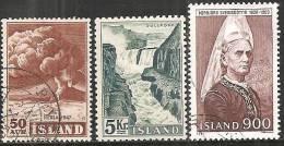 Islanda 1948;1956;1982 Nuovo/Usato - Mi. 310 TL*; 250;587 Usato - 1944-... Republique