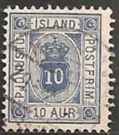 Islanda 1876 Servizio Usato - Mi. 5B  Dent. 12 3/4 - Oblitérés