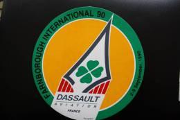 Autocollant Dassault-Aviation France Aviaplan Farnborough International 1990—> Salon Du 2 Au 9 Septembre 1990 - Aufkleber