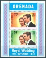 GRENADA  - 1973 -  MNH/*** LUXE  - ROYAL WEDDING ANNE PHILIPS -  Mi Bl 32 Yv BLOC 28  - Lot 3912 - Grenade (...-1974)