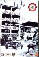 GIRO DI SICILIA TARGA FLORIO 2001 PROGRAMMA SCHEDA ISCRIZIONE VETTURE AMMESSE - Programmi