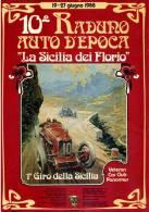 PROGRAMMA 1^ GIRO DI SICILIA LA SICILIA DEI FLORIO 1988 RADUNO AUTO D'EPOCA PROGRAMMA - Programmi