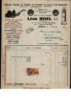 Entête 29/12/1934  -  NANCY   -  L.  MINEL  Pompes Et  A Rticles  De Caves Et  De  Brasserie  -  LANEUVILLE  Les  RAON ( - France