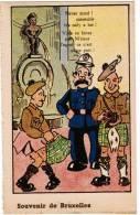 Brussel, Souvenir De Bruxelles, Manneken Pis, Ed Roberty. Vous En Faites Pas M'sieur L'agent.... (pk8576) - Personaggi Famosi