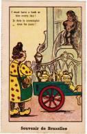 Brussel, Souvenir De Bruxelles, Manneken Pis, Ed Roberty. Humoristisch, Humouristique (pk8578) - Beroemde Personen