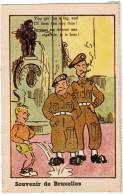 Brussel, Souvenir De Bruxelles, Manneken Pis, Ed Roberty. Humoristisch, Humouristique (pk8580) - Beroemde Personen