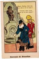Brussel, Souvenir De Bruxelles, Manneken Pis, Ed Roberty. Humoristisch, Humouristique (pk8583) - Personaggi Famosi