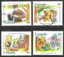 Canada - 1996 - Usato - Winnie The Pooh - Mi N. 1596/99 - Usados