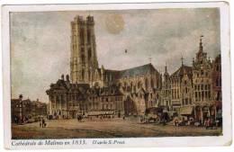 Mechelen, Cathédrale De Malines En 1833 D'apres S Prout (pk8588) - Mechelen