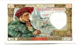 "France 50 Francs """" JACQUES COEUR """" 24 - 04 - 1941 - 1871-1952 Antichi Franchi Circolanti Nel XX Secolo"