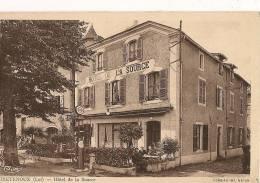 BRETENOUX    Hôtel De La Source   (au Dos,note De L'Hôtel) Animation:clients Pompe à Essence - Bretenoux