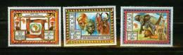 Liberia 1979,3V,part Set,elephant,olifant,zebra,lion,leeuw,löwe,art,kunst, MNH/Postfris(D1517) - Unclassified