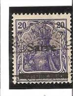 TIMBRES D'ALLEMAGNE DE 1905-16  Avec Surcharge  N° 8 Oblitéré   1 Er  Tirage - 1920-35 Société Des Nations
