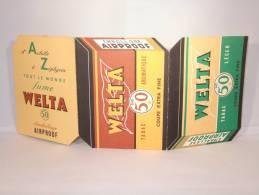 Publicité Pour Welta Tabac. Dépliant En 3 Volets Avec Les Fêtes à Souhaiter. - Publicités