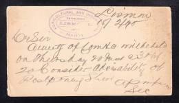 AU-43 Postcard Posted 18.02.1890.